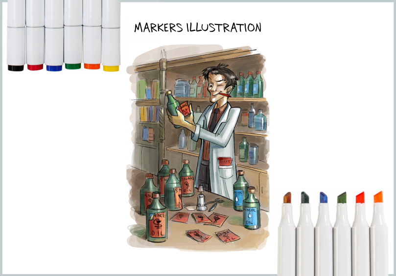 Markers Illustration