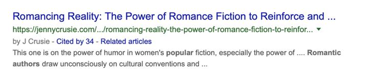 romance author SERP 2