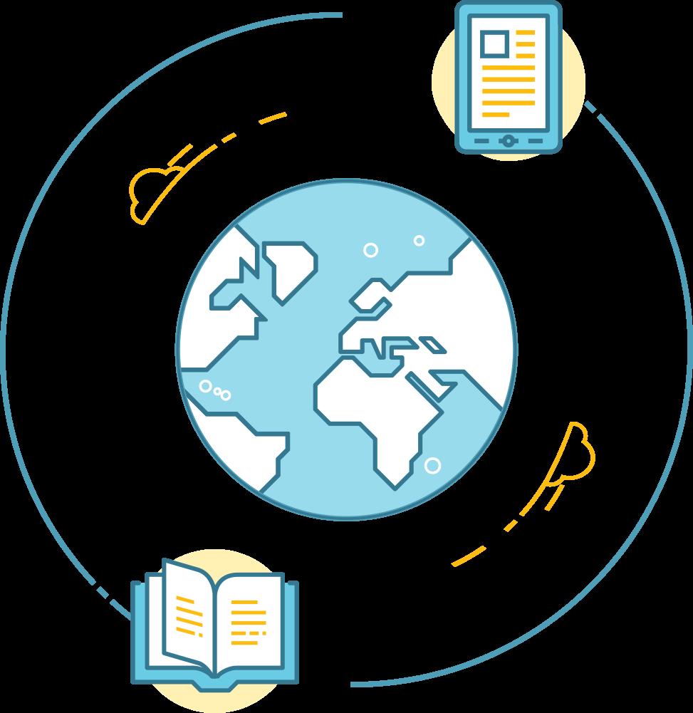 print and ebooks around the world
