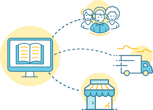 illustration of the ebook publishing process